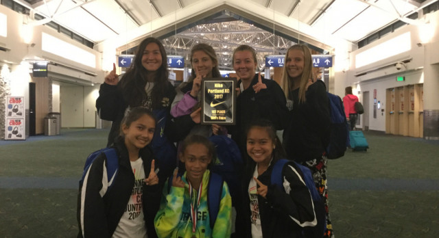Girls XC 1st Place in Portland!