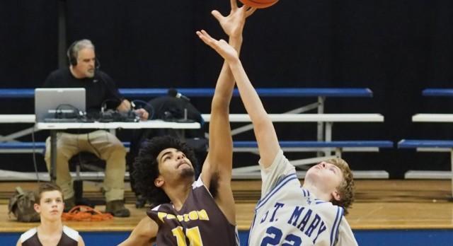 Pellston High School Boys Junior Varsity Basketball falls to Gaylord St Mary 51-49