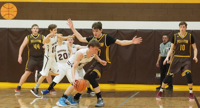 Pellston High School Boys Varsity Basketball beat Harbor Light Christian High School 69-34