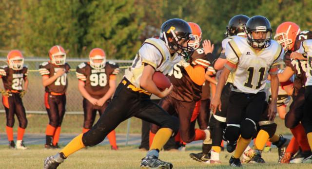 Pellston Middle School Football falls to Ogemaw Heights High School 25-22