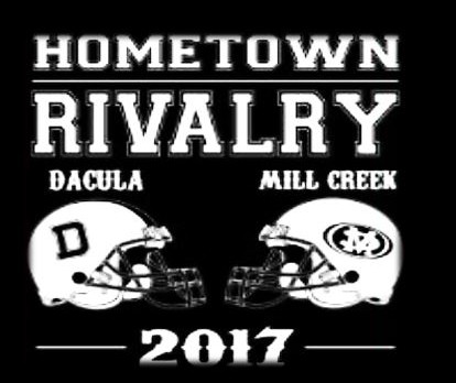 Hometown Rivalry Dacula vs Mill Creek T-shirts On Sale Now – Aug 24th All Lunches