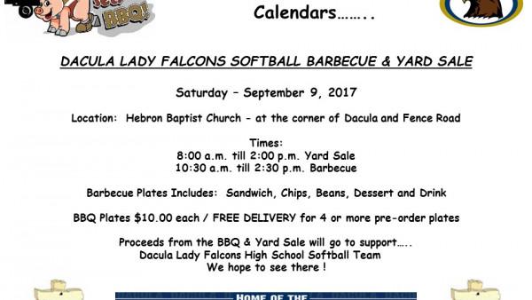 BBQ yard sale flyer 17