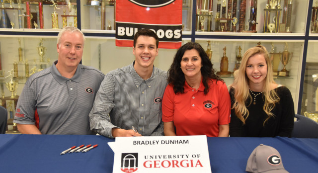 Congratulations Bradley Dunham on signing with UGA Swimming program!
