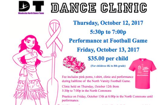 @WNHSdance Football Dance Clinic with the Waukesha North Dance Team!