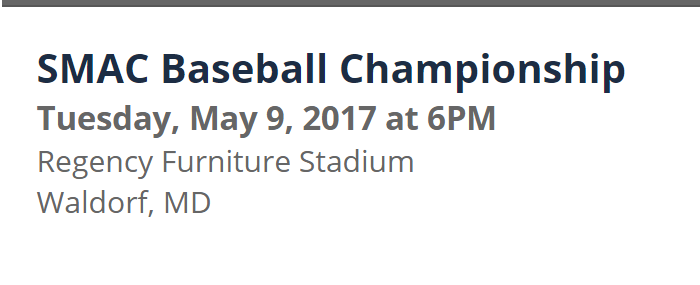 SMAC Baseball Championship