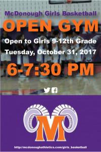 Girls Open Gym 3x