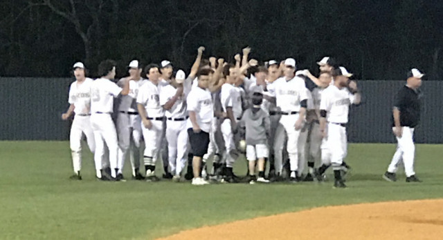 McMeans's Walkoff Gives Varsity Baseball Win Over Victoria East 5-4