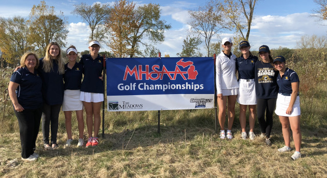 Clarkston High School Girls Varsity Golf finishes in 6th place