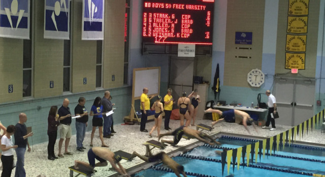 Swimming Earns 2 League Titles