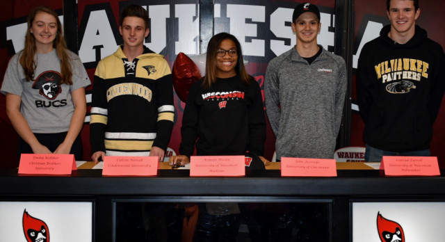 Five Seniors Sign Letters of Intent