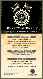 CCCS 2017 Homecoming Save the Date Flyer