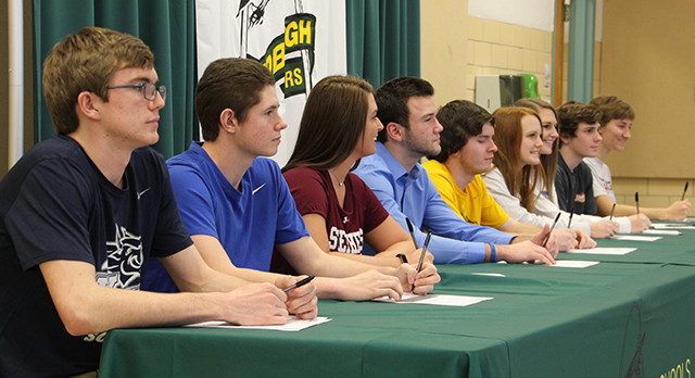 Nine Student-Athletes Commit to College Play