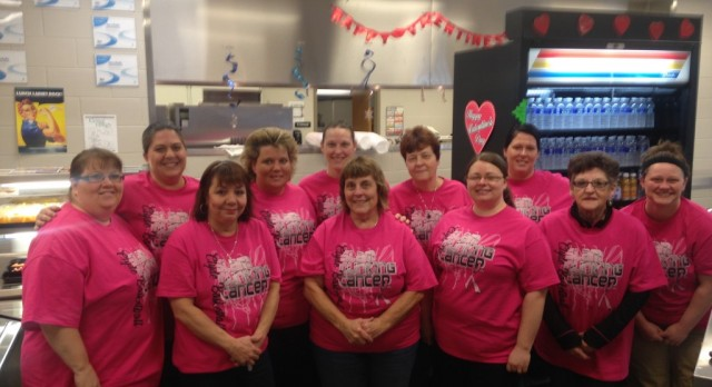 "The High School Kitchen Staff supporting ""Slam Dunk Cancer"""