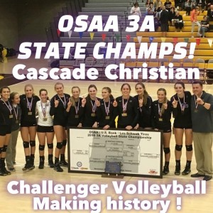 2016 Volleyball State champs white letters