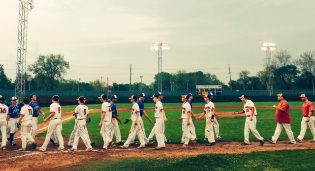 Richmond High School Varsity Baseball beat Greensburg Community High School 4-3