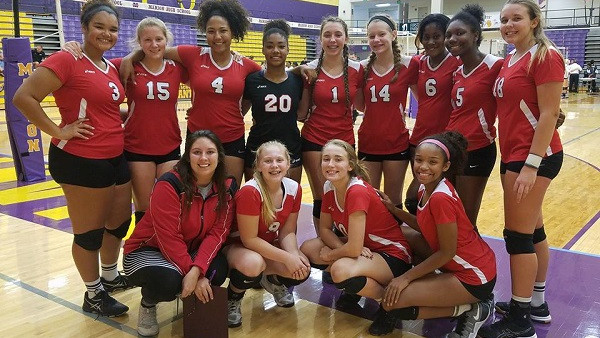 Richmond High School Girls Junior Varsity Volleyball beat Connersville High School 2-0