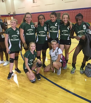 Richmond Girls 7th Grade Volleyball Dennis Intermediate  beat Union Jr-Sr High School – Modoc 2-0