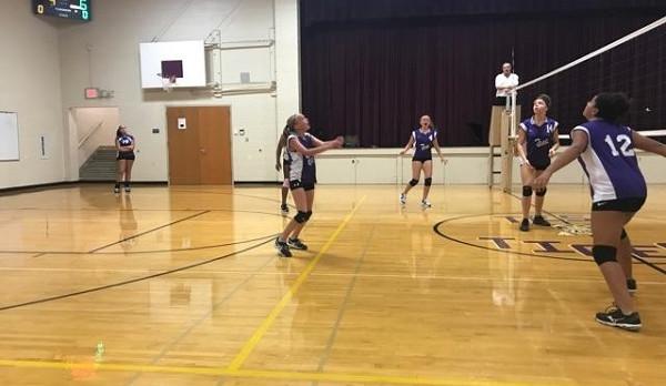 Richmond Girls 7th Grade Volleyball Test Intermediate falls to Union County MS 2-0