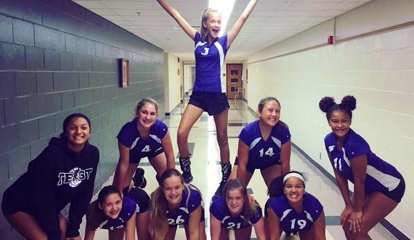 Richmond Girls 8th Grade Volleyball Test Intermediate beat Union County MS 2-1