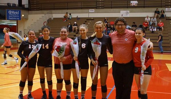 Richmond High School Girls Varsity Volleyball beat Connersville High School 3-0