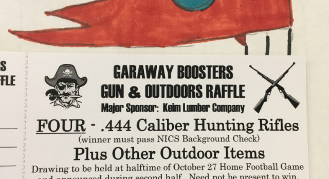 Athletic Booster Gun and Outdoor Gear Raffle