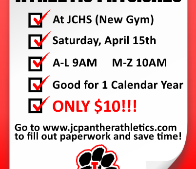 Spring Sports Physicals Saturday Morning at 9am