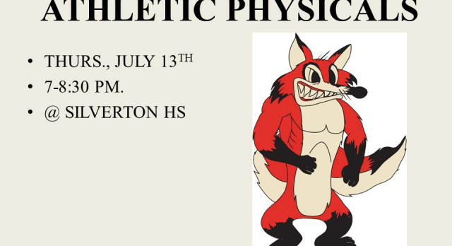 ATHLETIC PHYSICALS SET FOR JULY 13