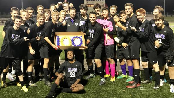 boys soccer 100th win team pic-resize