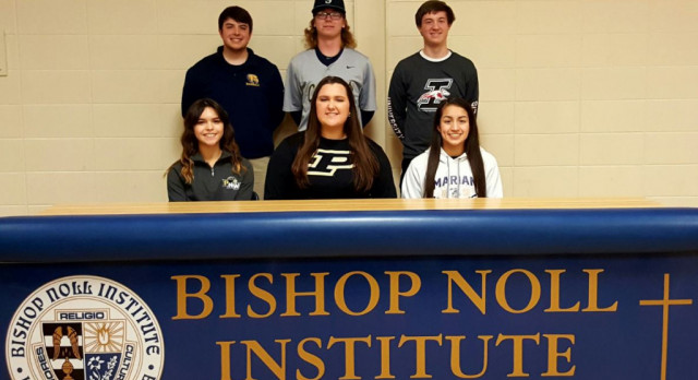 BNI Seniors Sign for College Athletic Future