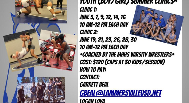 Youth Wrestling Clinic This Summer