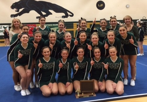 Comstock Park Cheer Captures 8th Straight OK Blue Championship