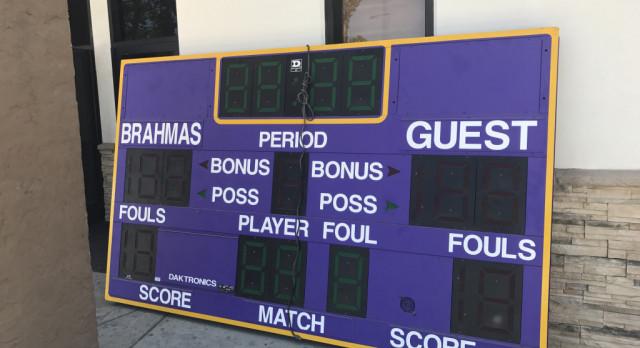 New Gym Scoreboards Installed