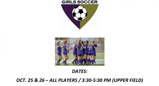 Girls Soccer Tryout