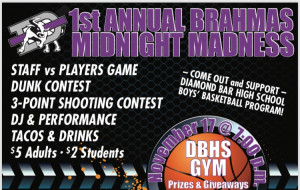 BBBall v Staff event flyer