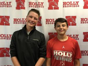 Boys Tennis - Wyatt Caldwell & Garrett Reid