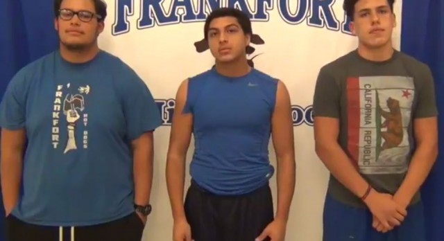 Football Senior Week. Edition #3 Chavez, Martinez and Conda