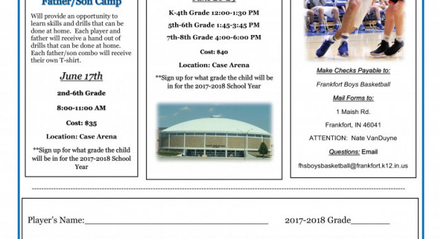 Boys Basketball Camp Announced