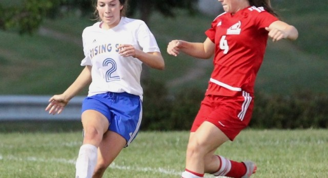 Risings Sun Lady Shiners Soccer tie Madison