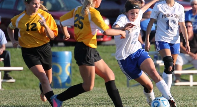 Rising Sun Lady Shiners defeat Milan in Semi-Finals of the Girl's Soccer Sectional