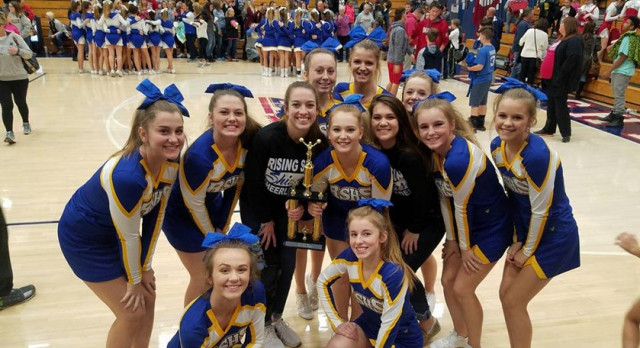 Cheerleaders Take 1st Place at Cheerfest