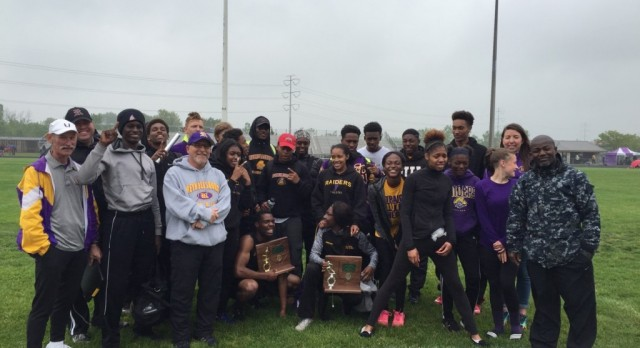Raiders Track Brings Home District Hardware!