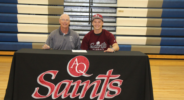 Colton VanderLeest Signs to Play Baseball for Aquinas