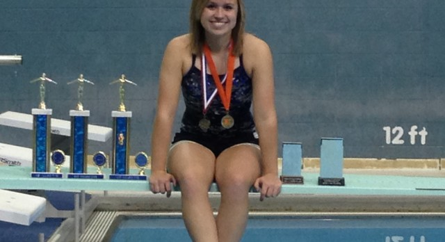 THS Diver Tori Crail Advances to State Championship Saturday 2/15