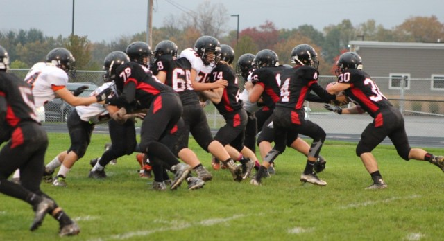 JV Football Defeats Leslie-Article attached