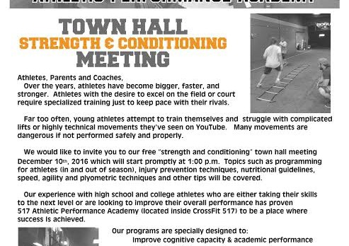 517 Athletic Perfomance Academy Town Hall Meeting