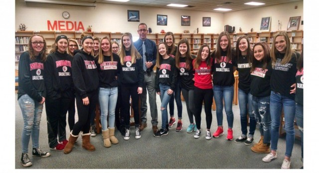 8th Gr. Girls' Basketball Teams on the Bart Hawley Show
