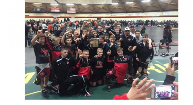 MS Wrestlers finish season Undefeated in the I-8 Conference