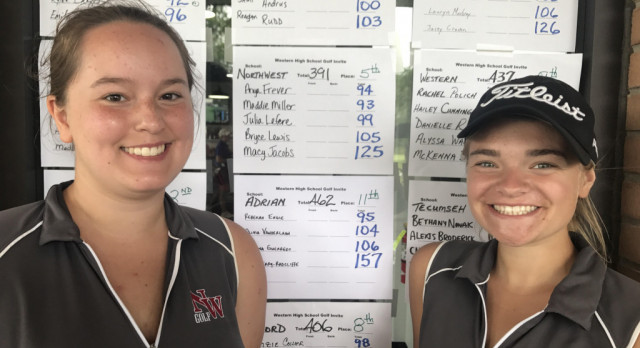 Girls Golf finishes 5th at the Western Invitational