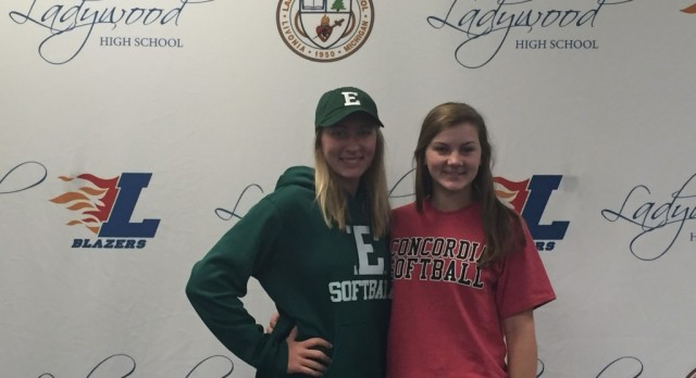 Blazers Softball Duo Sign Letters of Intent