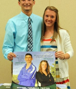 Tennis Player Taylor Dejka Selected to Represent LHS on Tobacco Free Boone County Poster